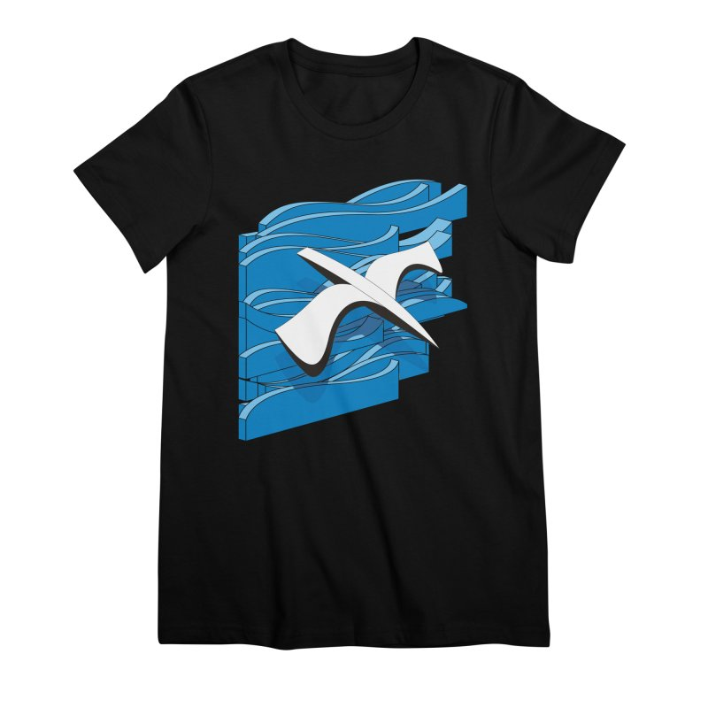 On The Waves Women's Premium T-Shirt by bulo
