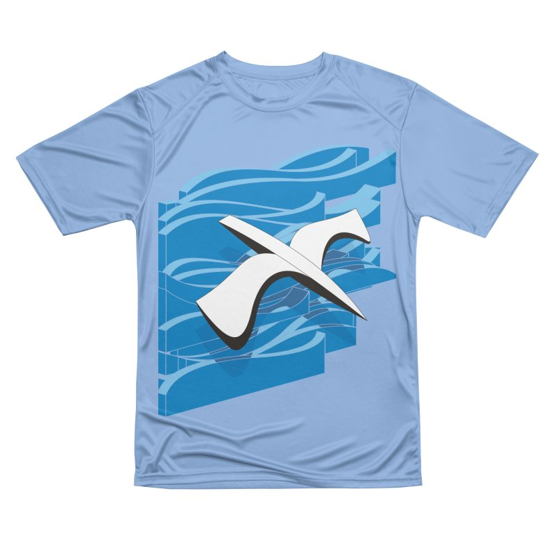 On The Waves Women's Performance Unisex T-Shirt by bulo