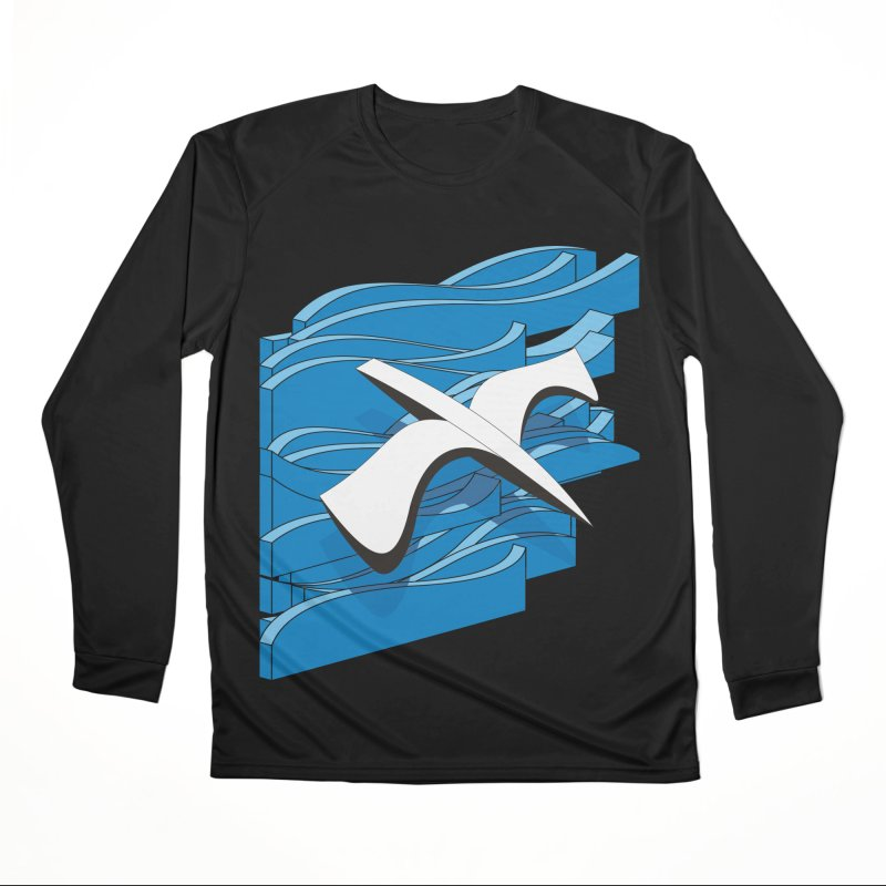 On The Waves Women's Performance Unisex Longsleeve T-Shirt by bulo