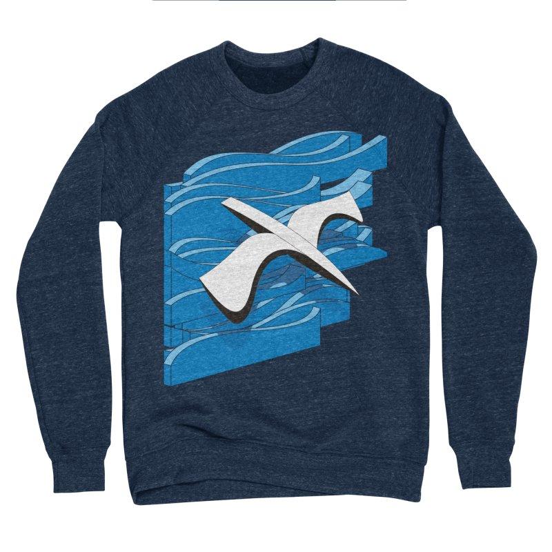 On The Waves Men's Sponge Fleece Sweatshirt by bulo