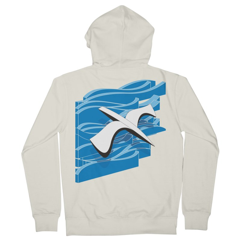 On The Waves Men's French Terry Zip-Up Hoody by bulo
