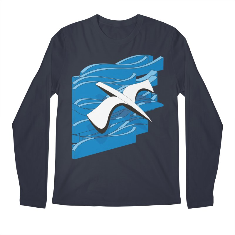 On The Waves Men's Regular Longsleeve T-Shirt by bulo
