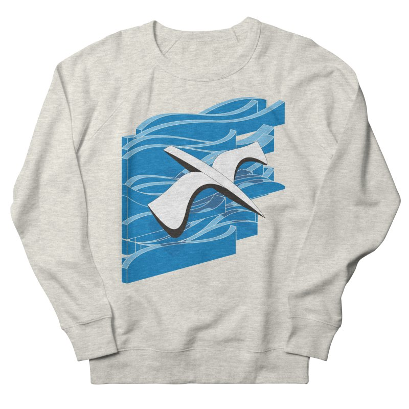 On The Waves Men's French Terry Sweatshirt by bulo