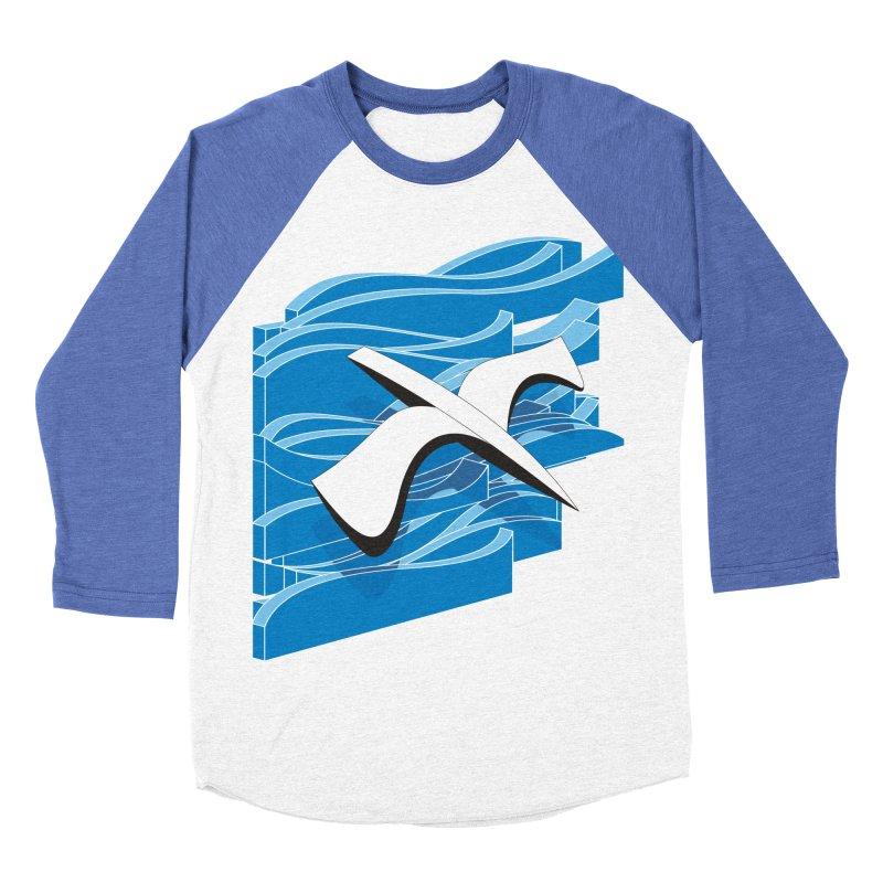 On The Waves Women's Baseball Triblend Longsleeve T-Shirt by bulo