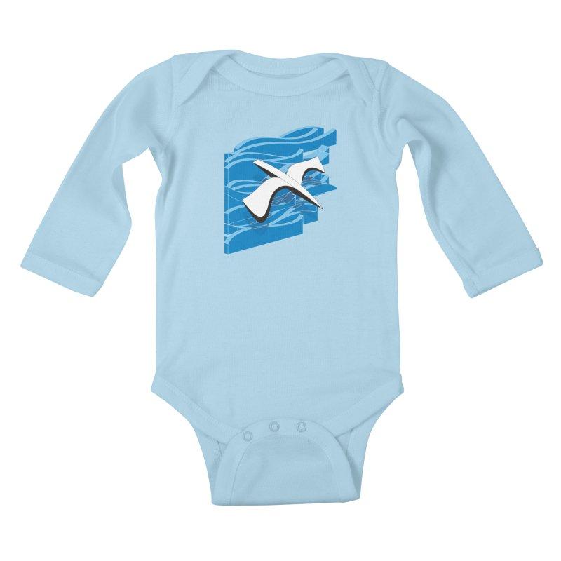 On The Waves Kids Baby Longsleeve Bodysuit by bulo