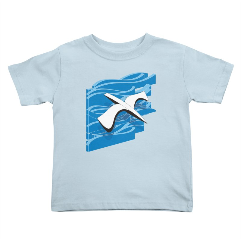 On The Waves Kids Toddler T-Shirt by bulo