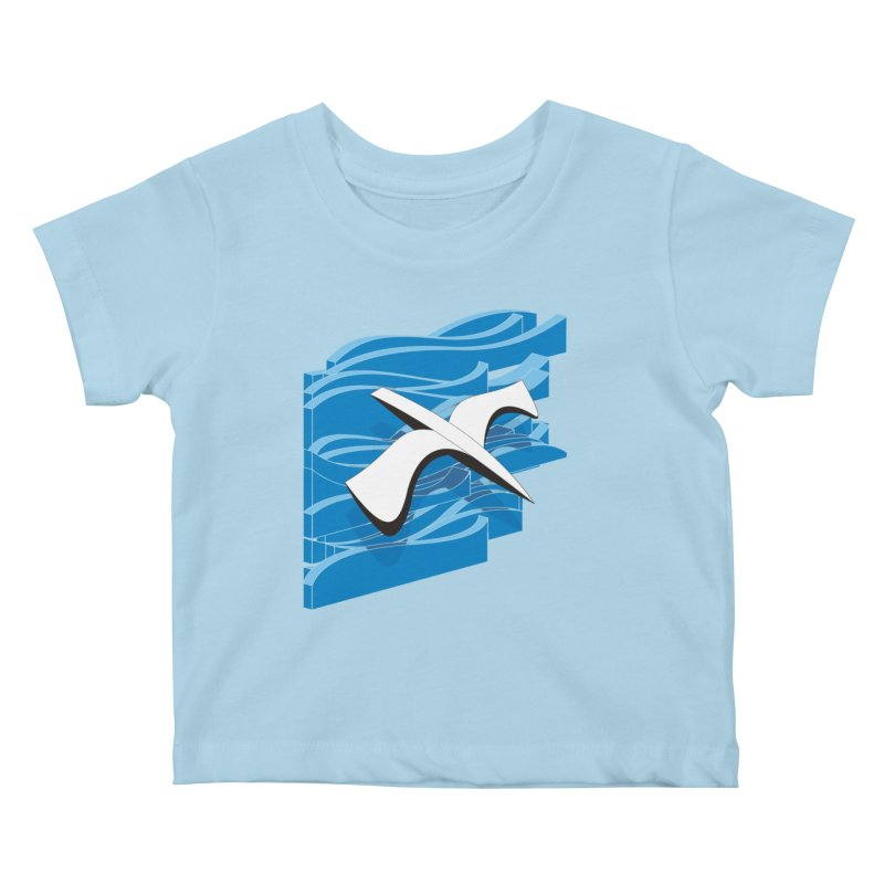 On The Waves Kids Baby T-Shirt by bulo