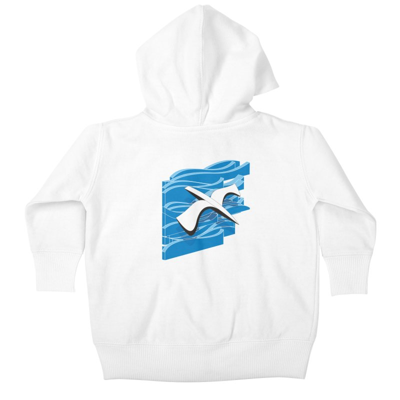 On The Waves Kids Baby Zip-Up Hoody by bulo