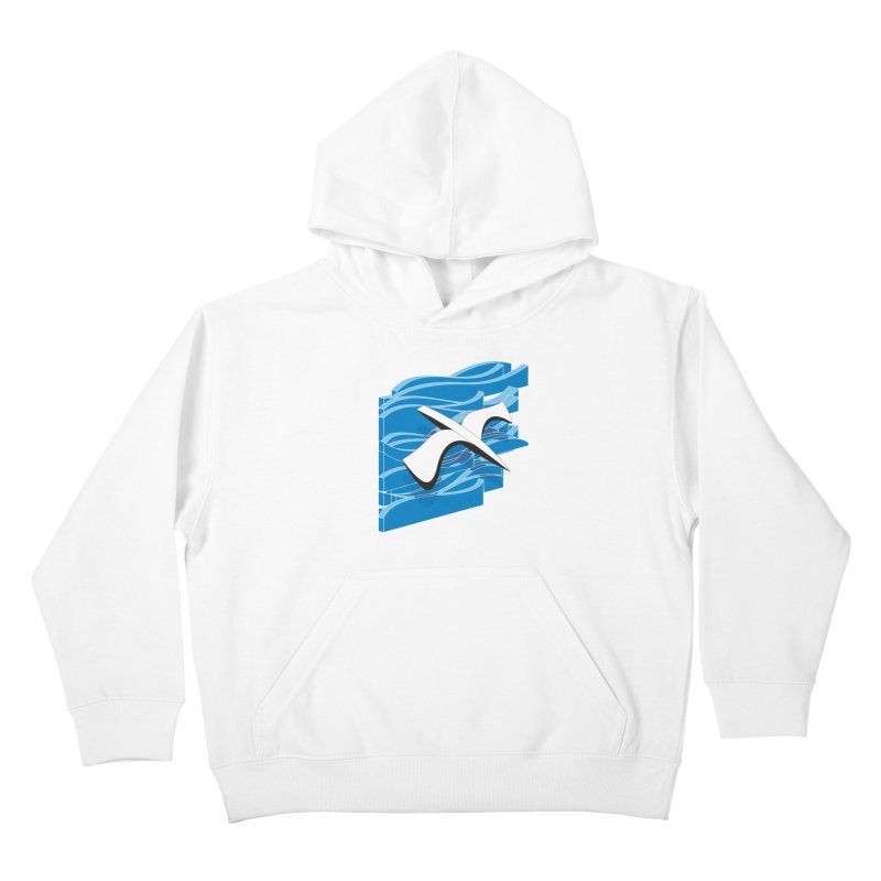 On The Waves Kids Pullover Hoody by bulo