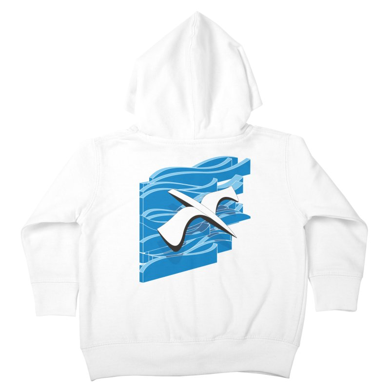 On The Waves Kids Toddler Zip-Up Hoody by bulo