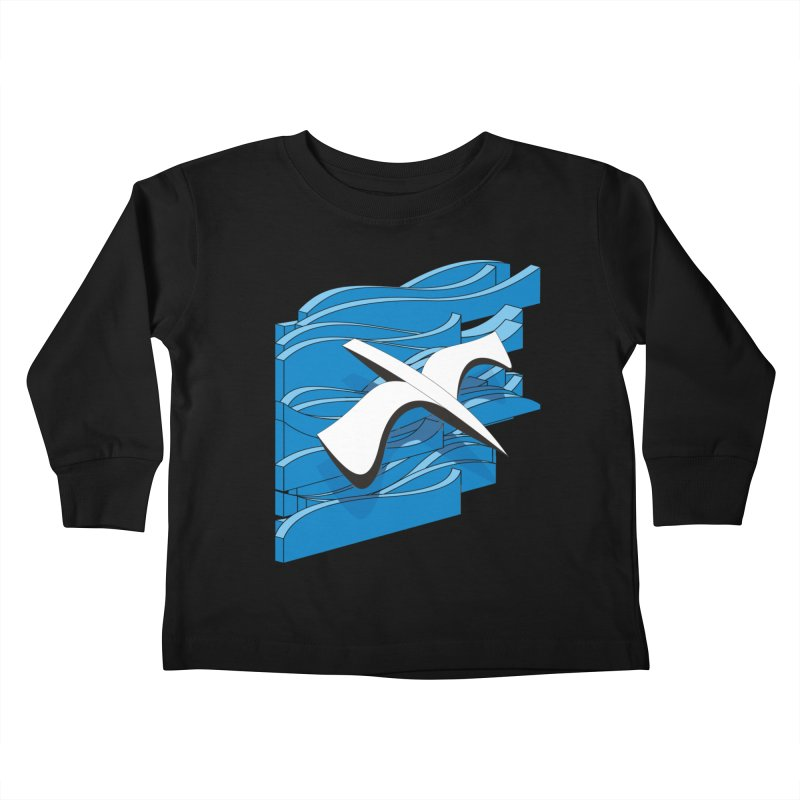 On The Waves Kids Toddler Longsleeve T-Shirt by bulo
