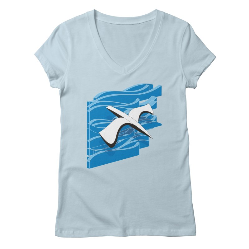 On The Waves Women's Regular V-Neck by bulo