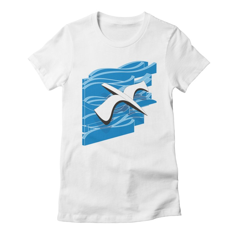 On The Waves Women's Fitted T-Shirt by bulo