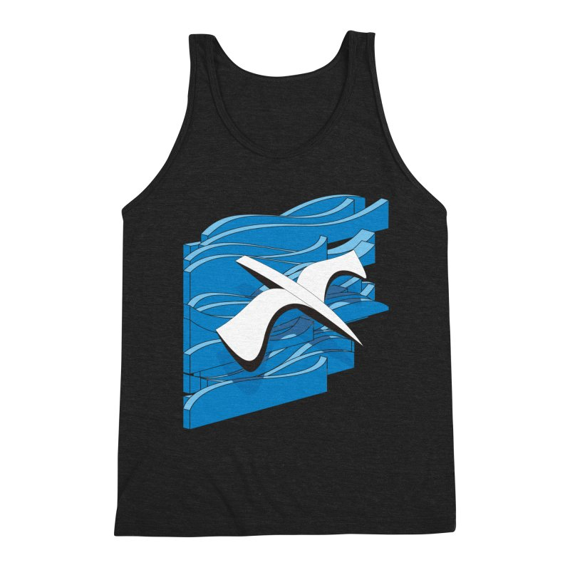 On The Waves Men's Triblend Tank by bulo
