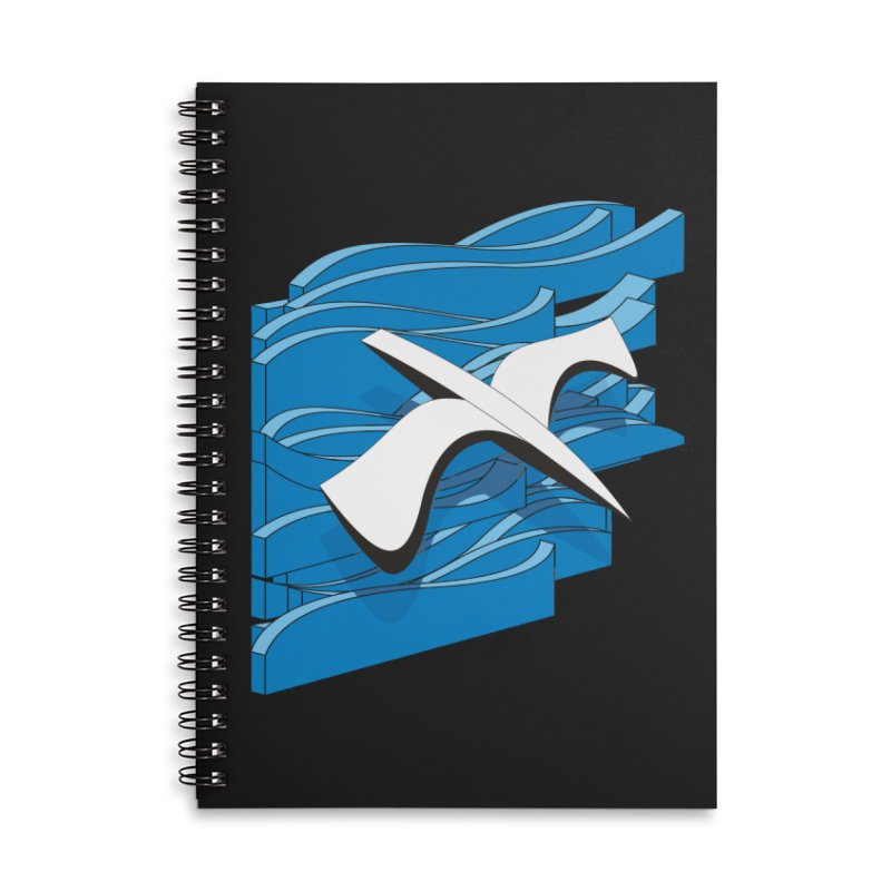 On The Waves Accessories Lined Spiral Notebook by bulo