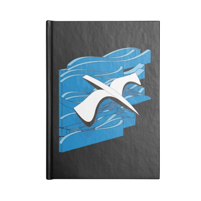 On The Waves Accessories Blank Journal Notebook by bulo
