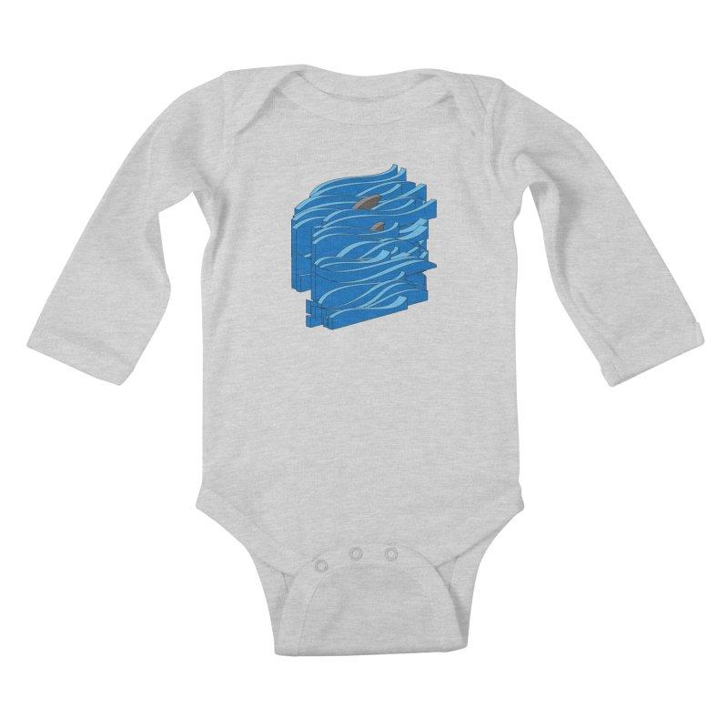 Fins Kids Baby Longsleeve Bodysuit by bulo