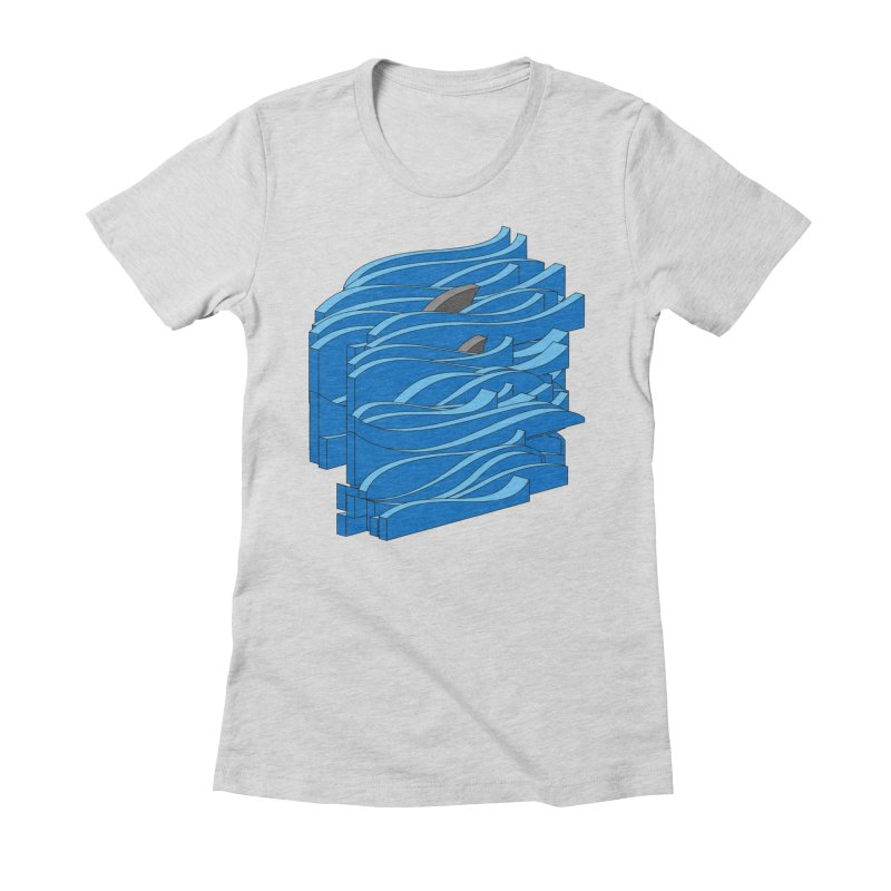 Fins Women's Fitted T-Shirt by bulo