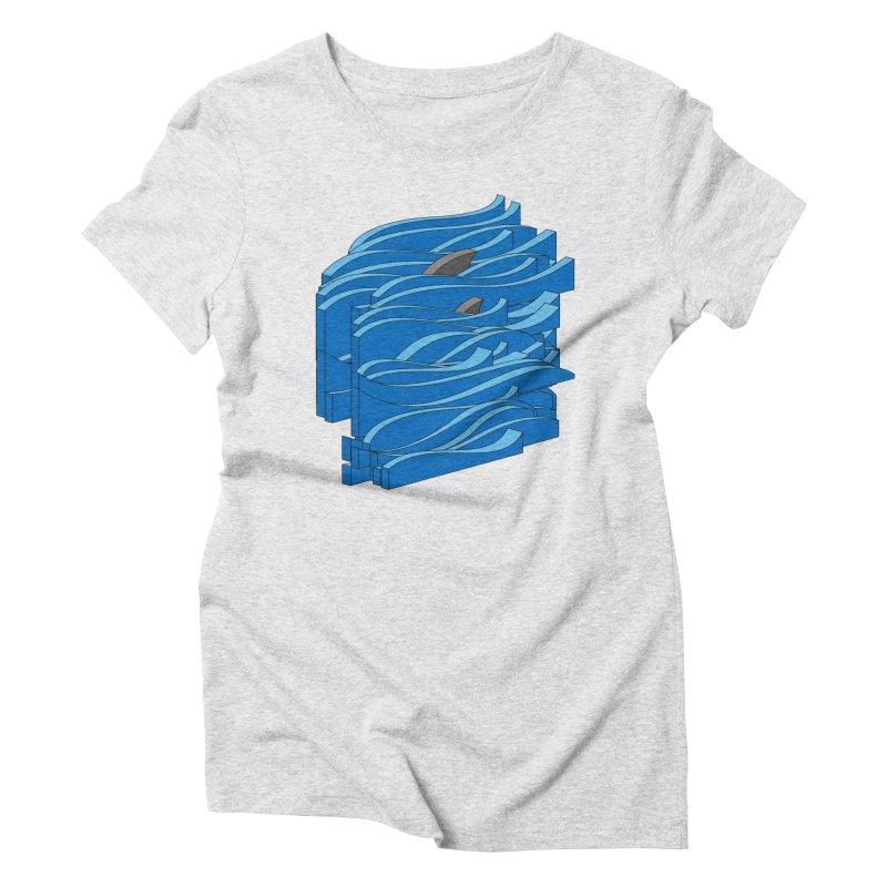 Fins Women's Triblend T-Shirt by bulo