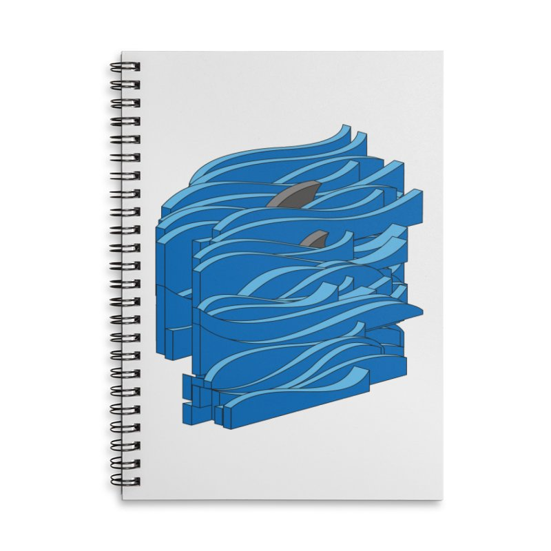 Fins Accessories Lined Spiral Notebook by bulo