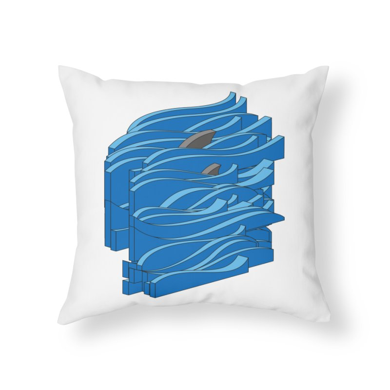 Fins Home Throw Pillow by bulo