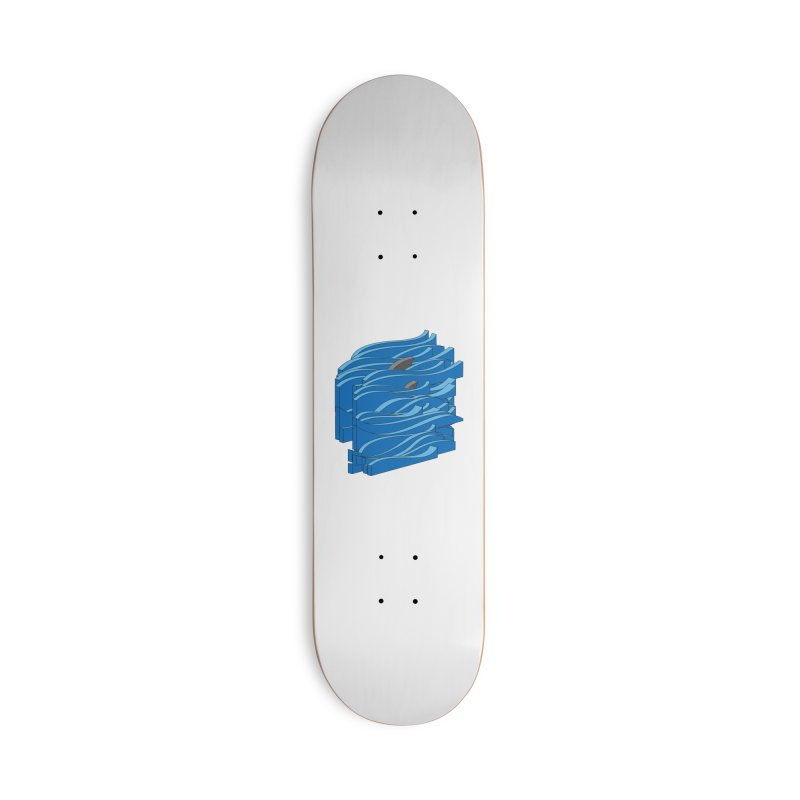 Fins Accessories Deck Only Skateboard by bulo