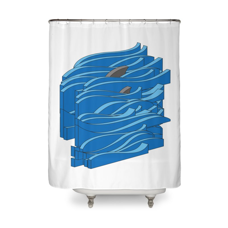 Fins Home Shower Curtain by bulo