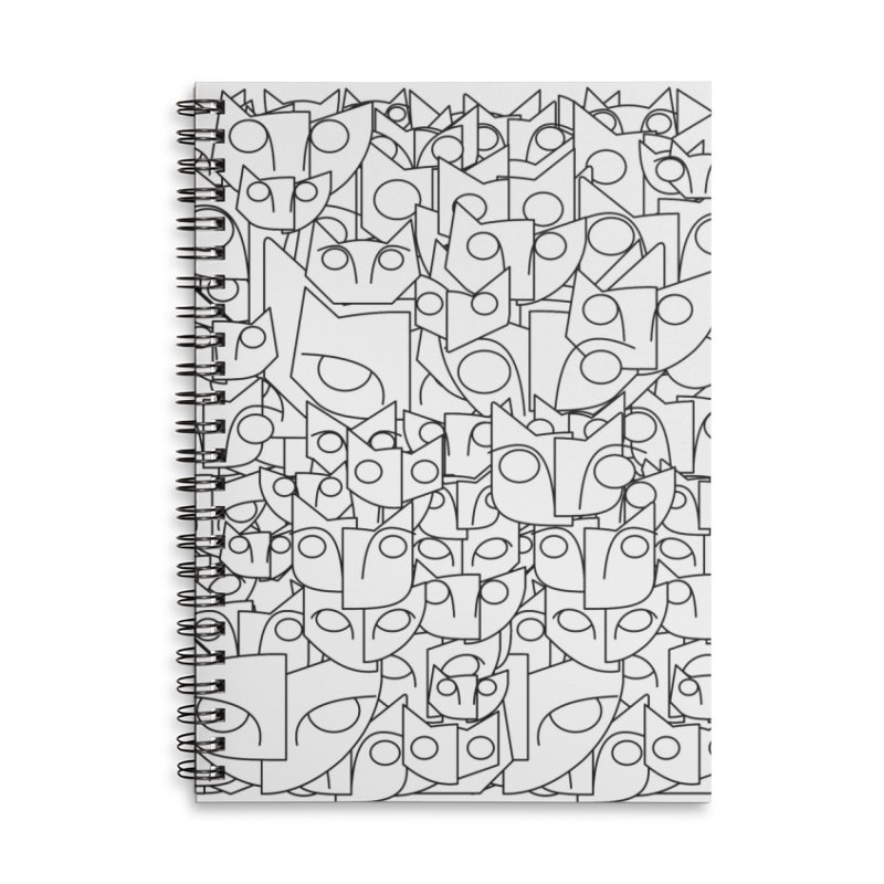 Katzen Accessories Lined Spiral Notebook by bulo