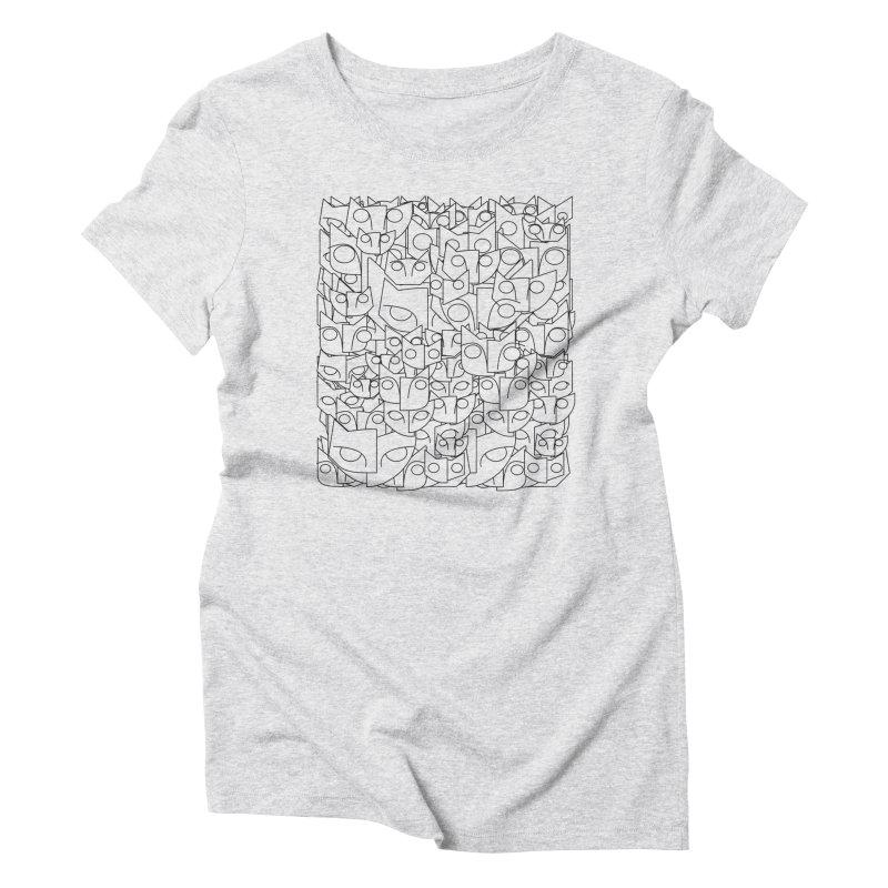 Katzen Women's Triblend T-Shirt by bulo