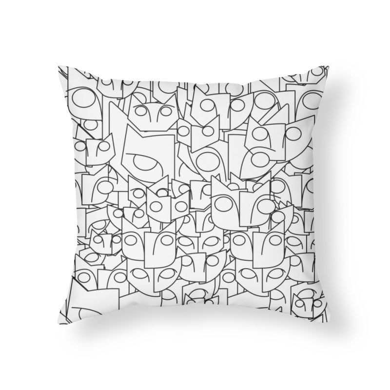 Katzen Home Throw Pillow by bulo