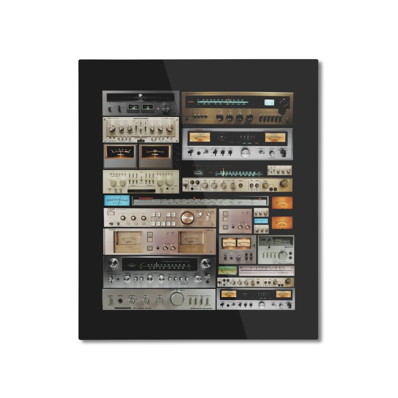 Audio Mix Home Mounted Aluminum Print by bulo