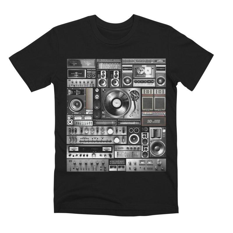 Audio Remix Men's Premium T-Shirt by bulo