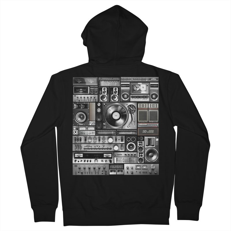 Audio Remix Men's French Terry Zip-Up Hoody by bulo