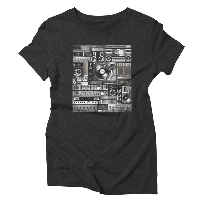Audio Remix Women's Triblend T-Shirt by bulo