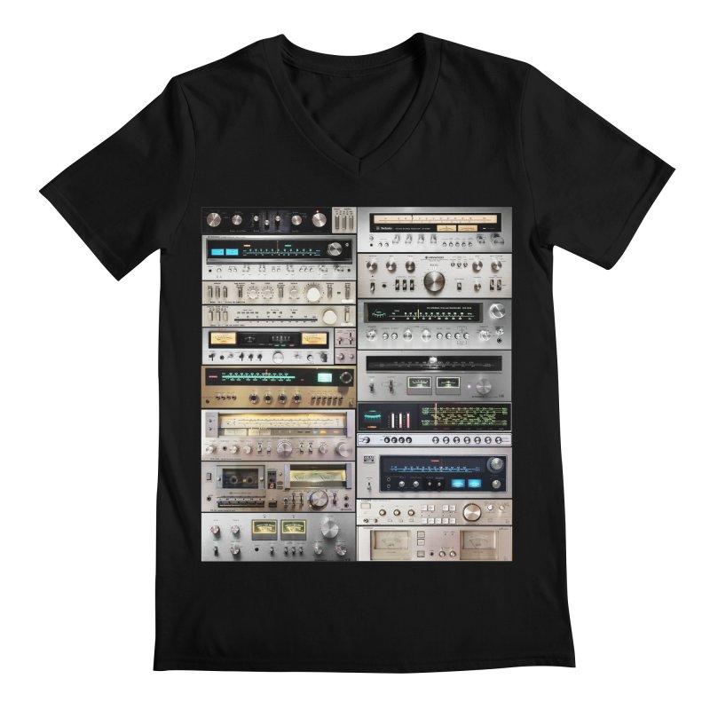 Audiomix Men's Regular V-Neck by bulo