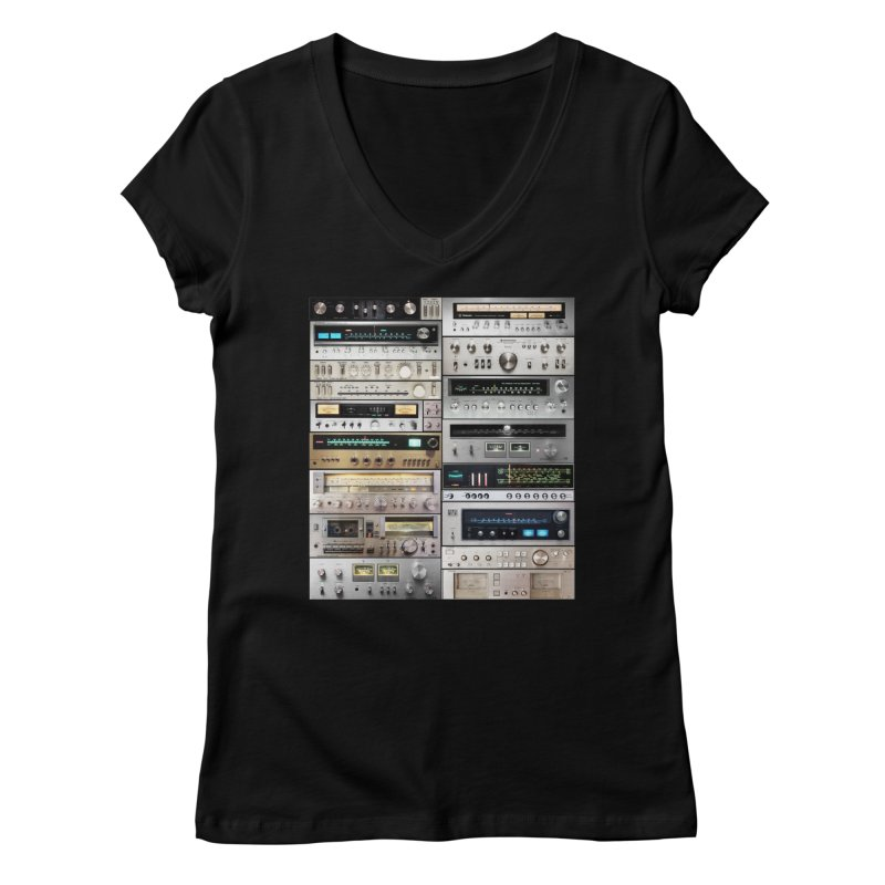 Audiomix Women's Regular V-Neck by bulo