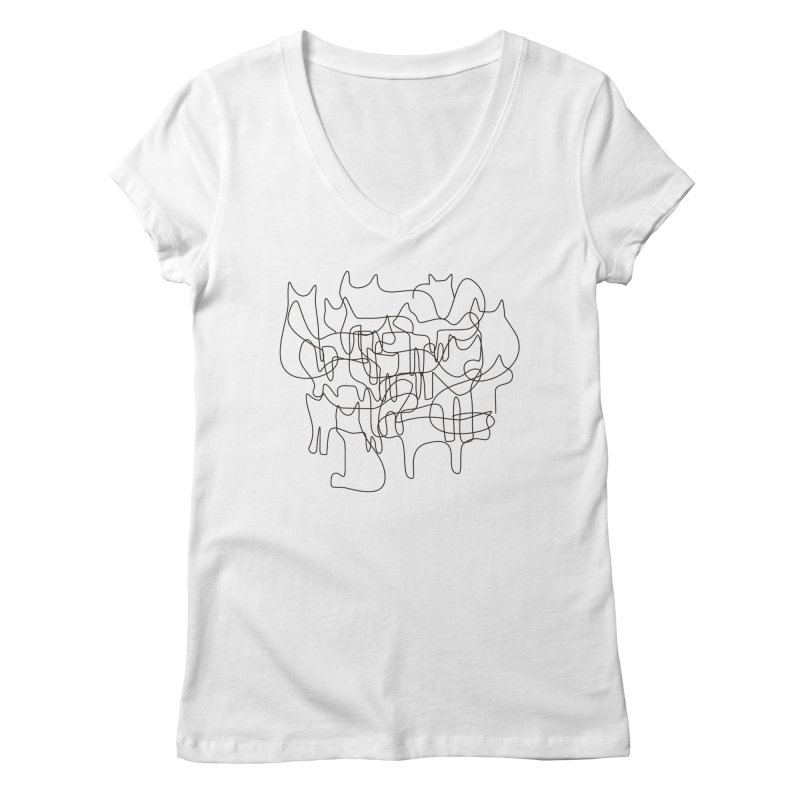 cats Women's V-Neck by bulo