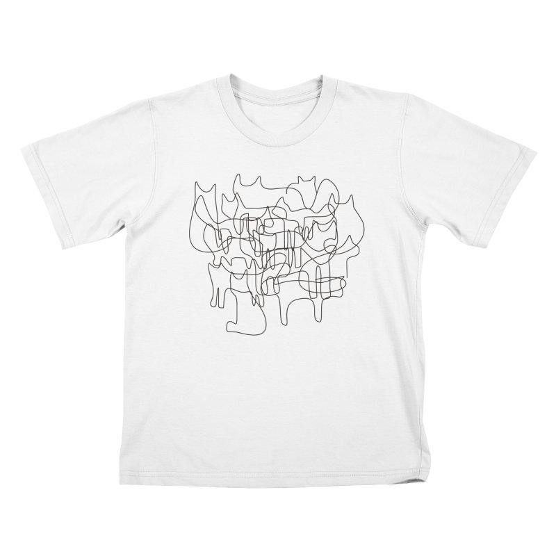 cats Kids T-Shirt by bulo