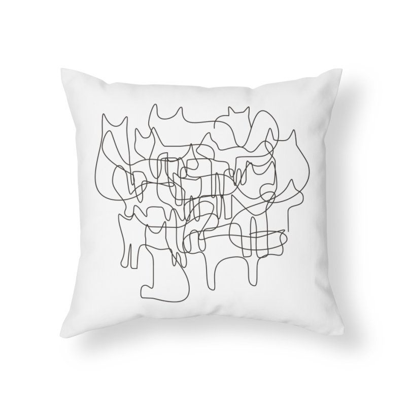 Cats Home Throw Pillow by bulo