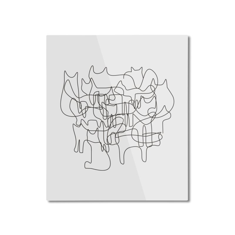 Cats Home Mounted Aluminum Print by bulo