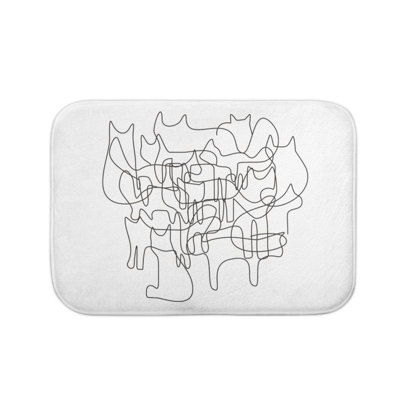 Cats Home Bath Mat by bulo