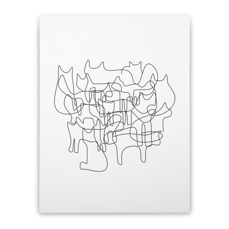 Cats Home Stretched Canvas by bulo