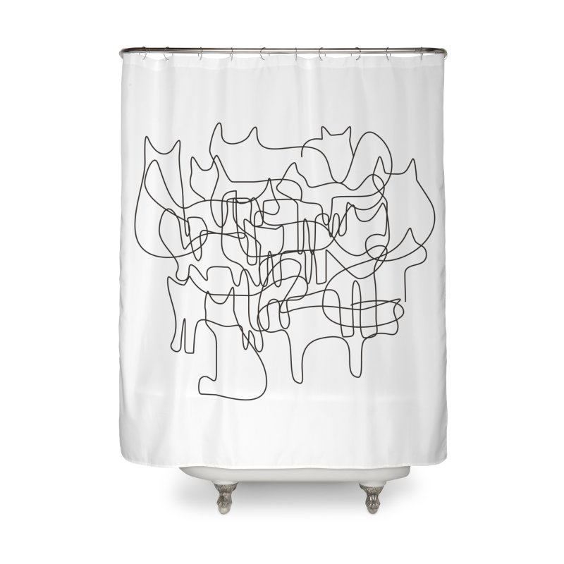 Cats Home Shower Curtain by bulo