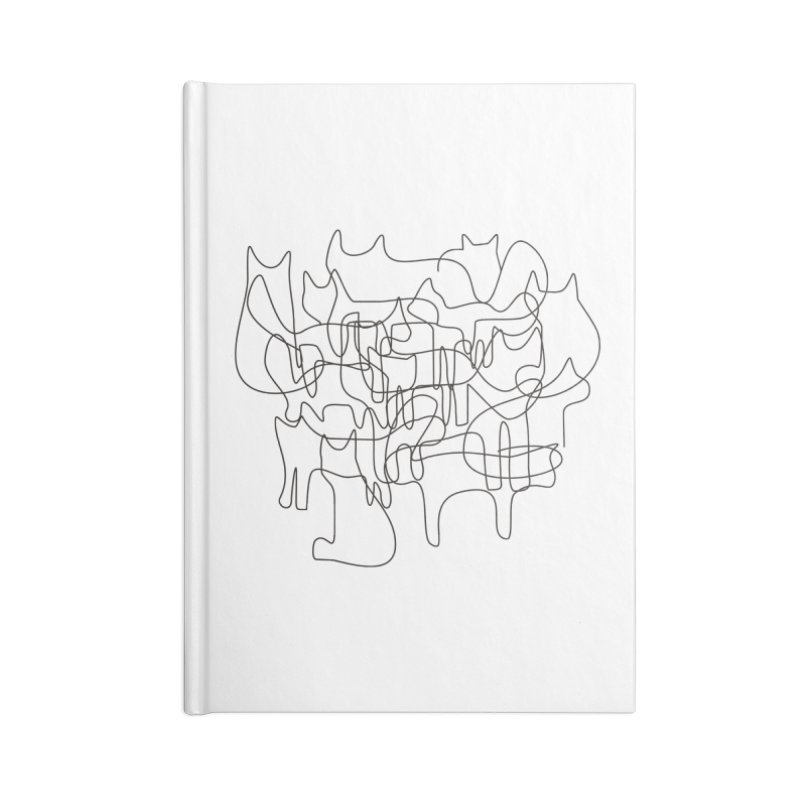 Cats Accessories Blank Journal Notebook by bulo