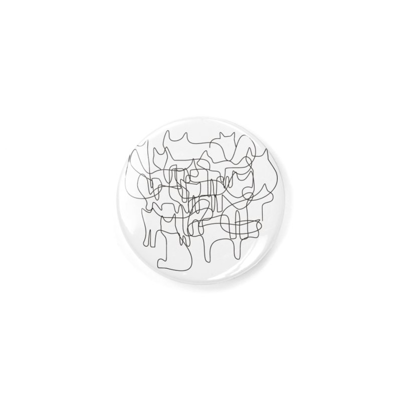 Cats Accessories Button by bulo