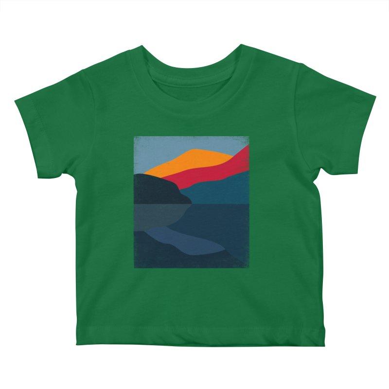 Yellow Hill Kids Baby T-Shirt by bulo