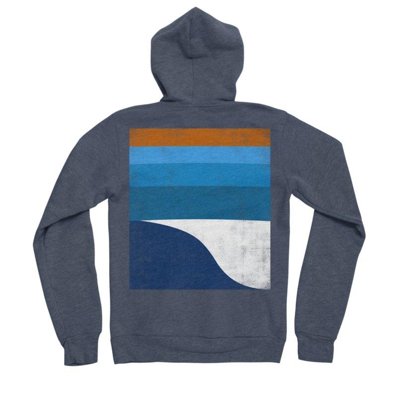 Feel the wave Men's Sponge Fleece Zip-Up Hoody by bulo