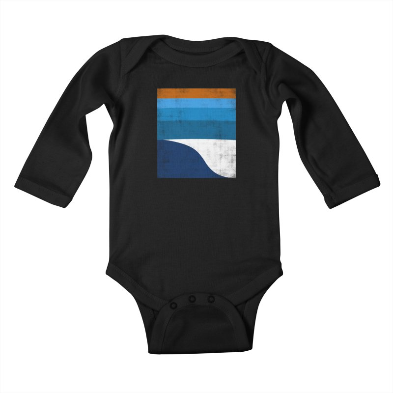 Feel the wave Kids Baby Longsleeve Bodysuit by bulo