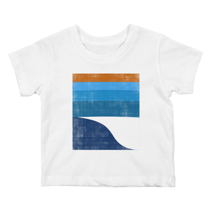 Feel the wave Kids Baby T-Shirt by bulo