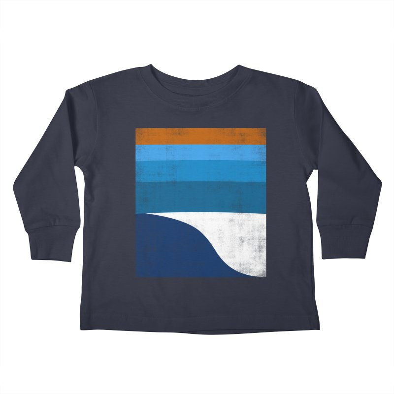 Feel the wave Kids Toddler Longsleeve T-Shirt by bulo